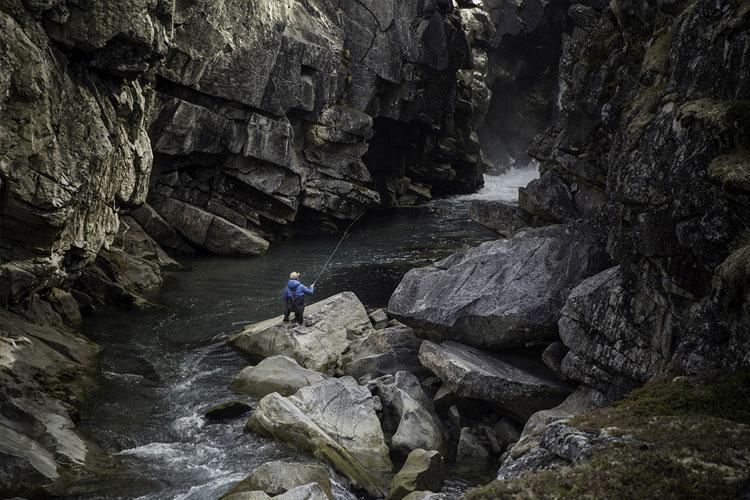 Arctic Char Fishing In Rocks