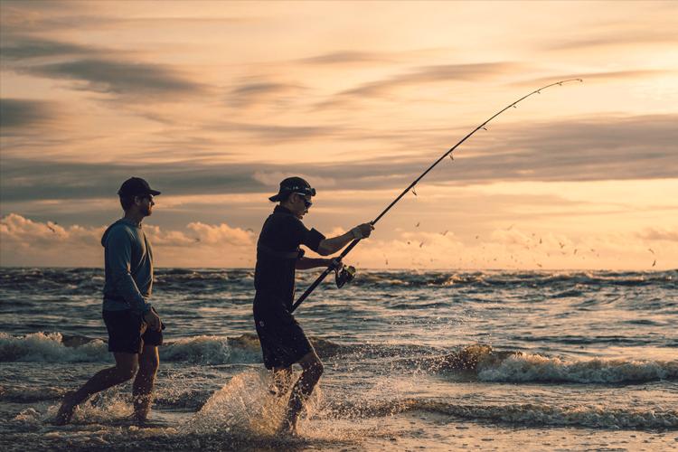 Gabon beach fishing