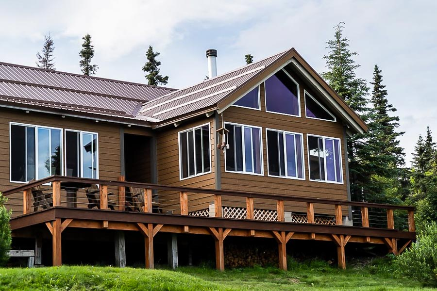 Front view of Bristol Bay Lodge