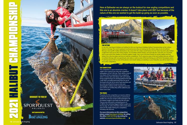 Monster Halibut Saltwater Boat Angler Magazine