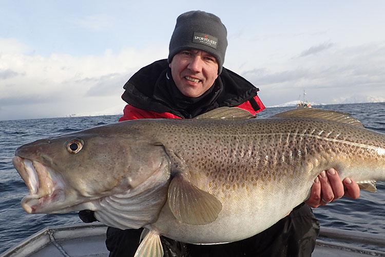 Paul Stevens with a Skrei cod