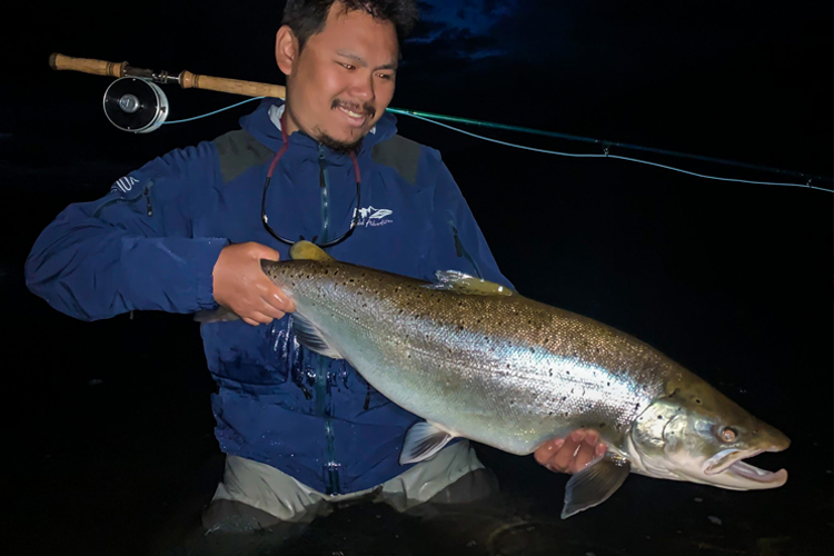 Sea trout caught at night