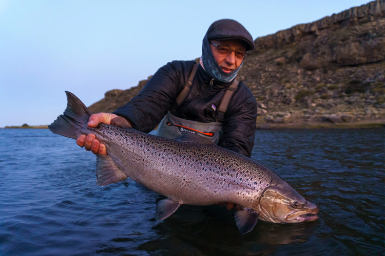 Angler with large salmon