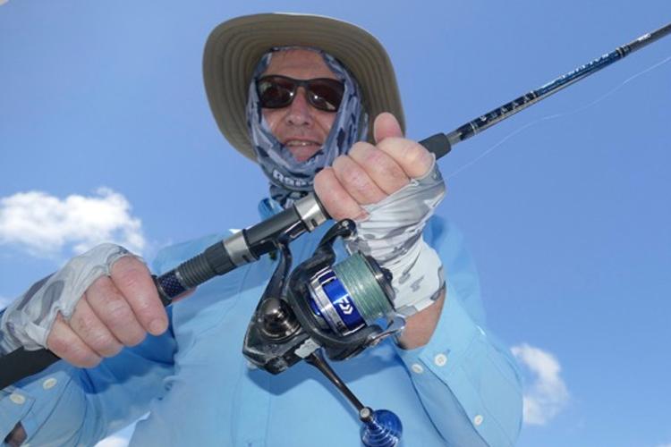 Angler with light tackle