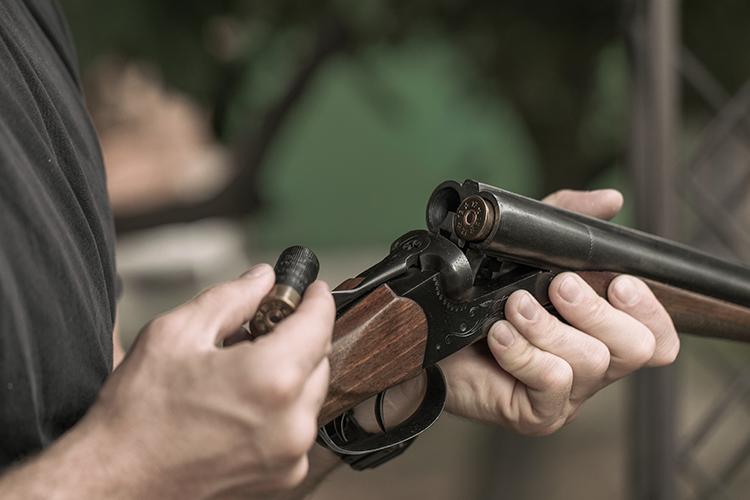 Loading A Side By Side shotgun