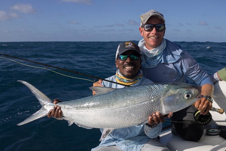 Milkfish caught in the seychelles