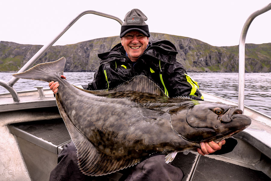 not a world record but still a large halibut