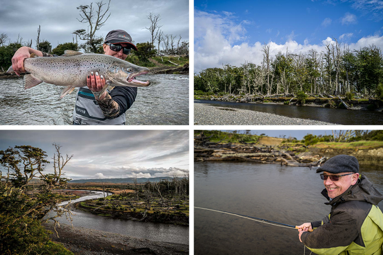 Sea trout pools and captures
