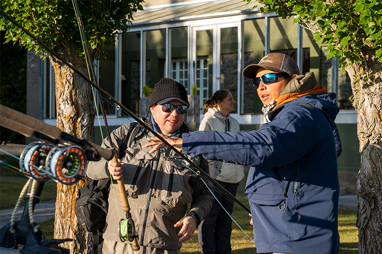 Anglers With Their Rods