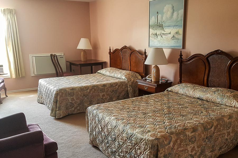 comfy beds at fishing hotel