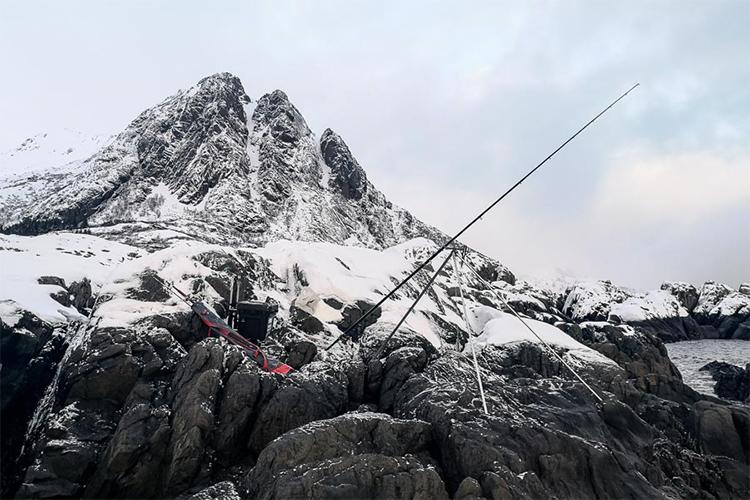Rock mark in the Lofoten islands