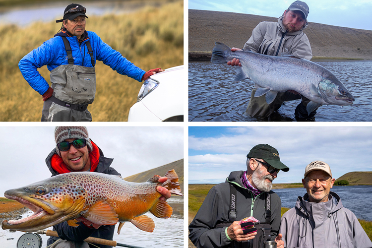 Anglers and their fish