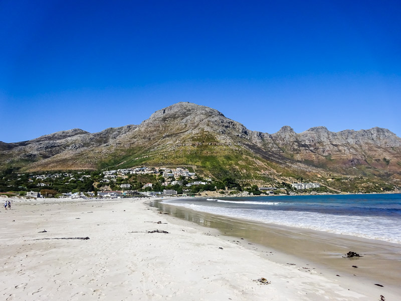 South African beach in Cape Town