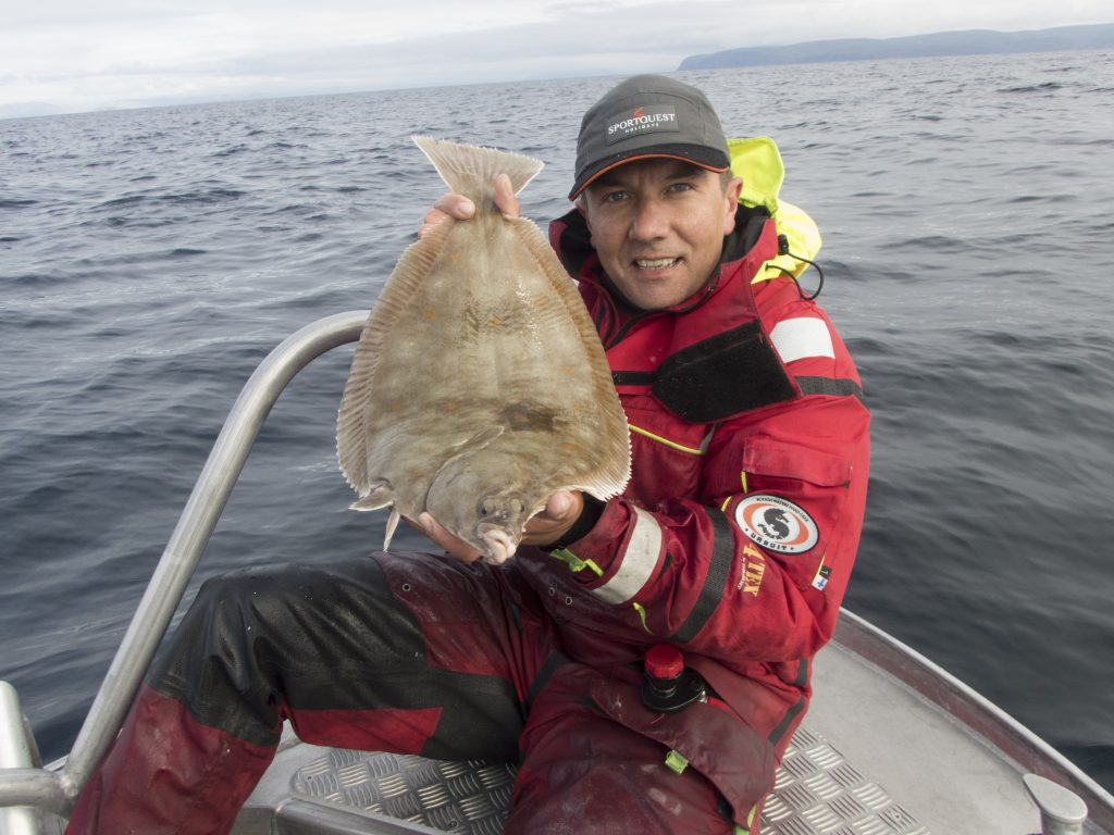 plaice fishing from a boat