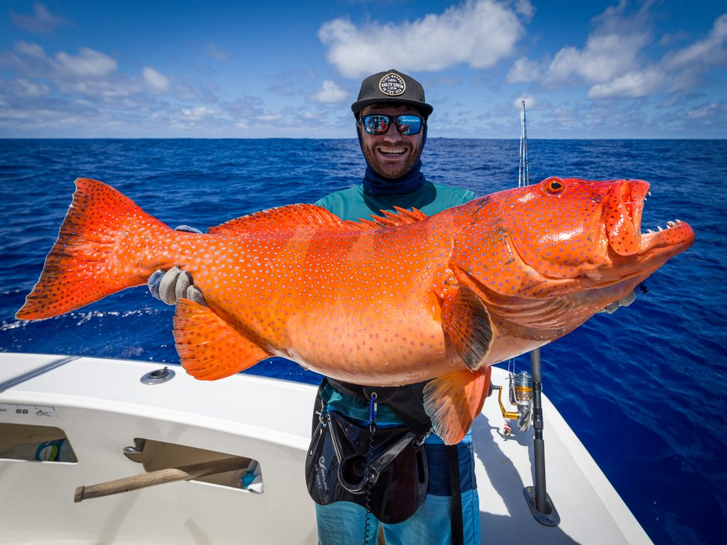 Big game fishing for coral trout